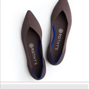 Rothys mink retired pointed flat